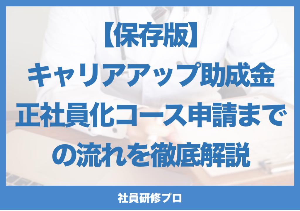 【保存版】キャリアアップ助成金/正社員化コース 申請までの流れを徹底解説